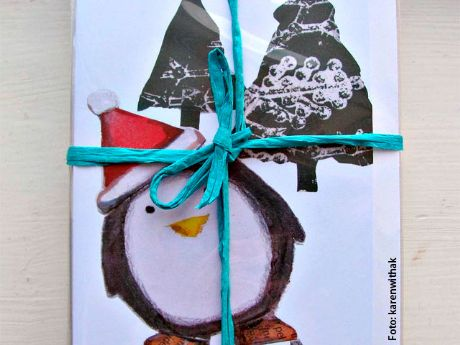 Como hacer tarjetas de Navidad  Como hacer